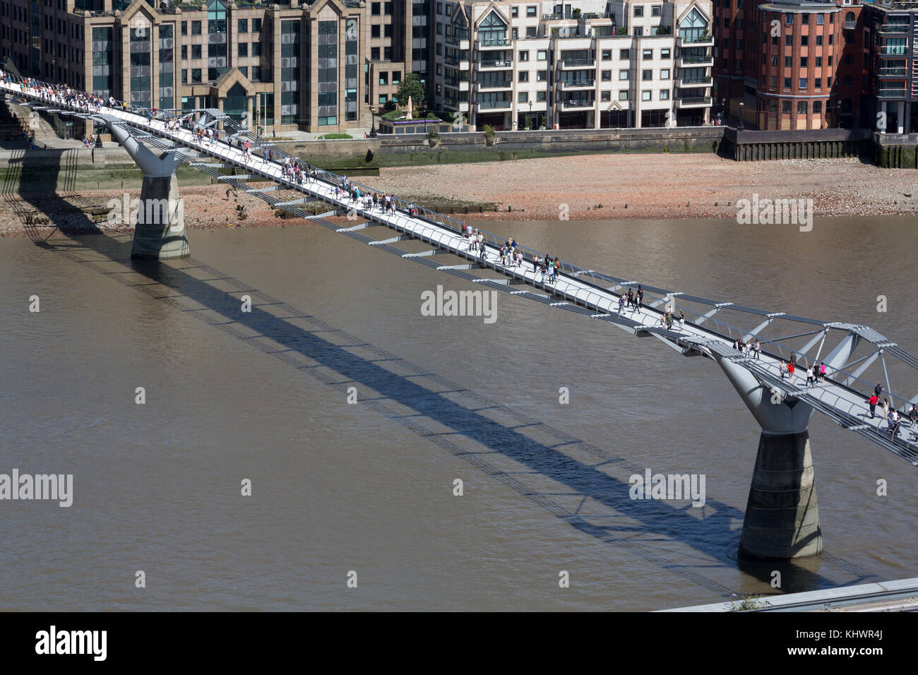 Millennium Bridge, London, UK - Stock Image
