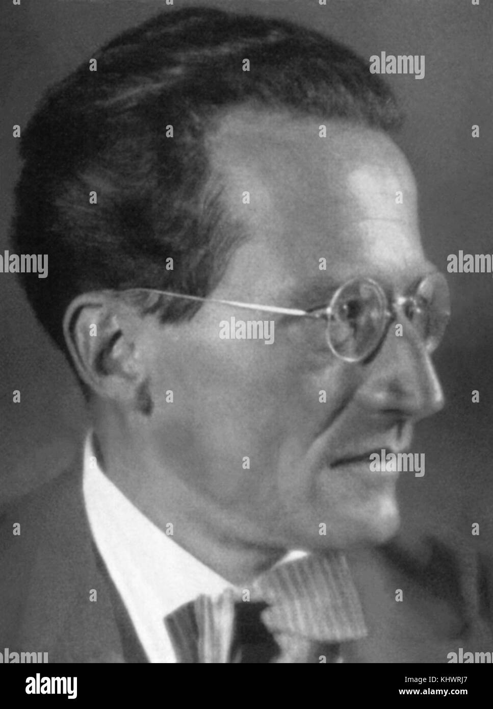Dr. Erwin Schrödinger (1867-1961), Austrian physicist and winner of the Nobe Prize for Physics in 1933. Schrödinger - Stock Image