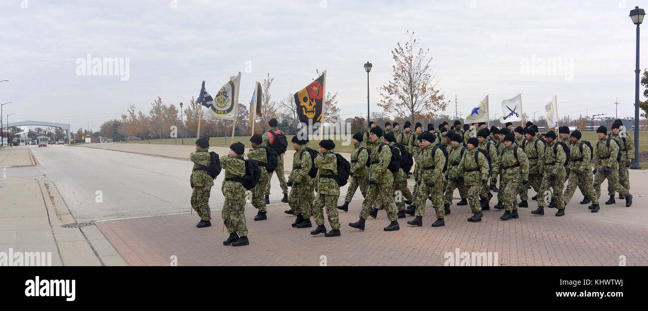 great lakes ill nov 14 2017 recruits in green navy working