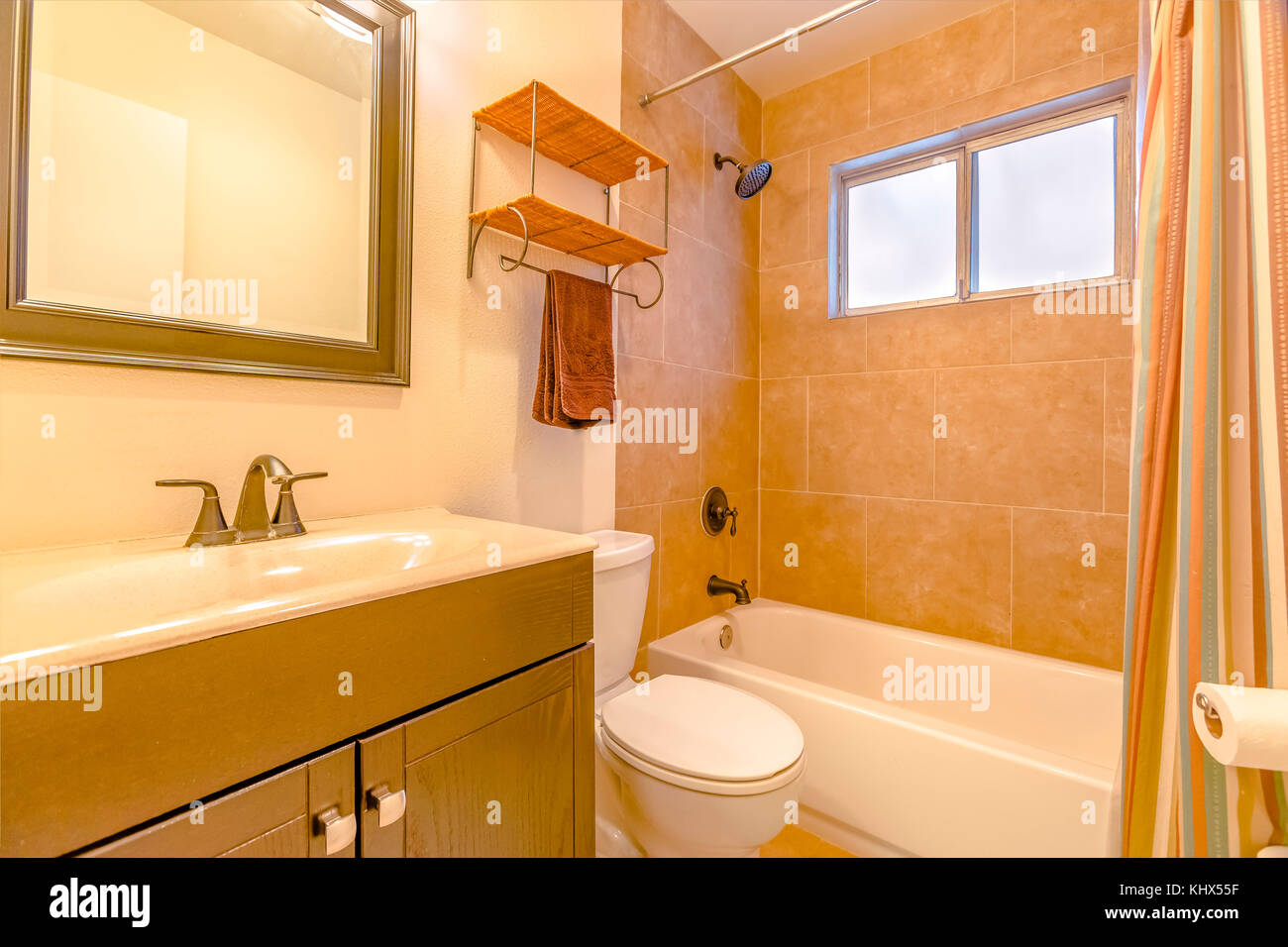 Model homes always show off beautiful bathrooms clean shine Stock ...