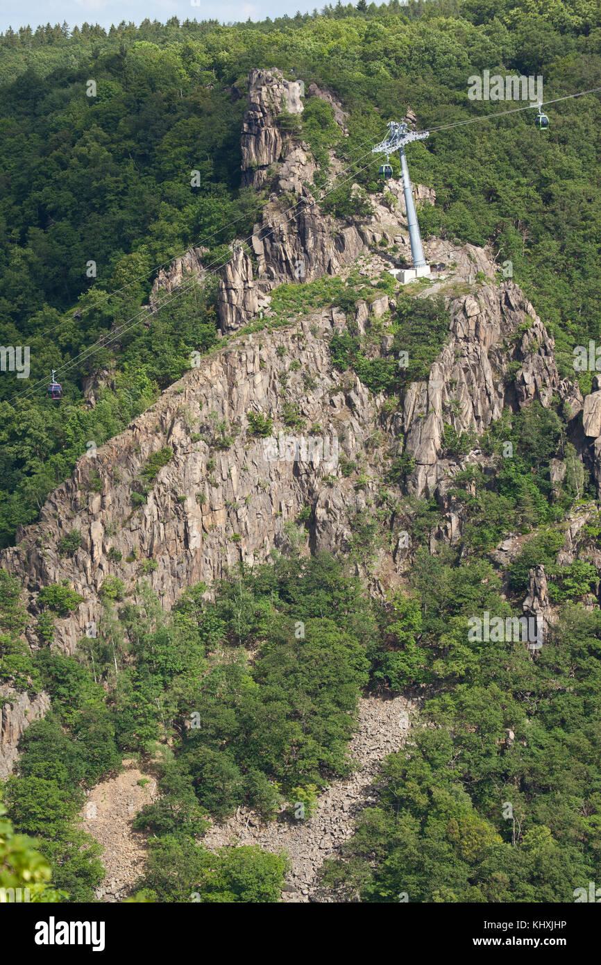 Blick von der Rosstrappe - Stock Image