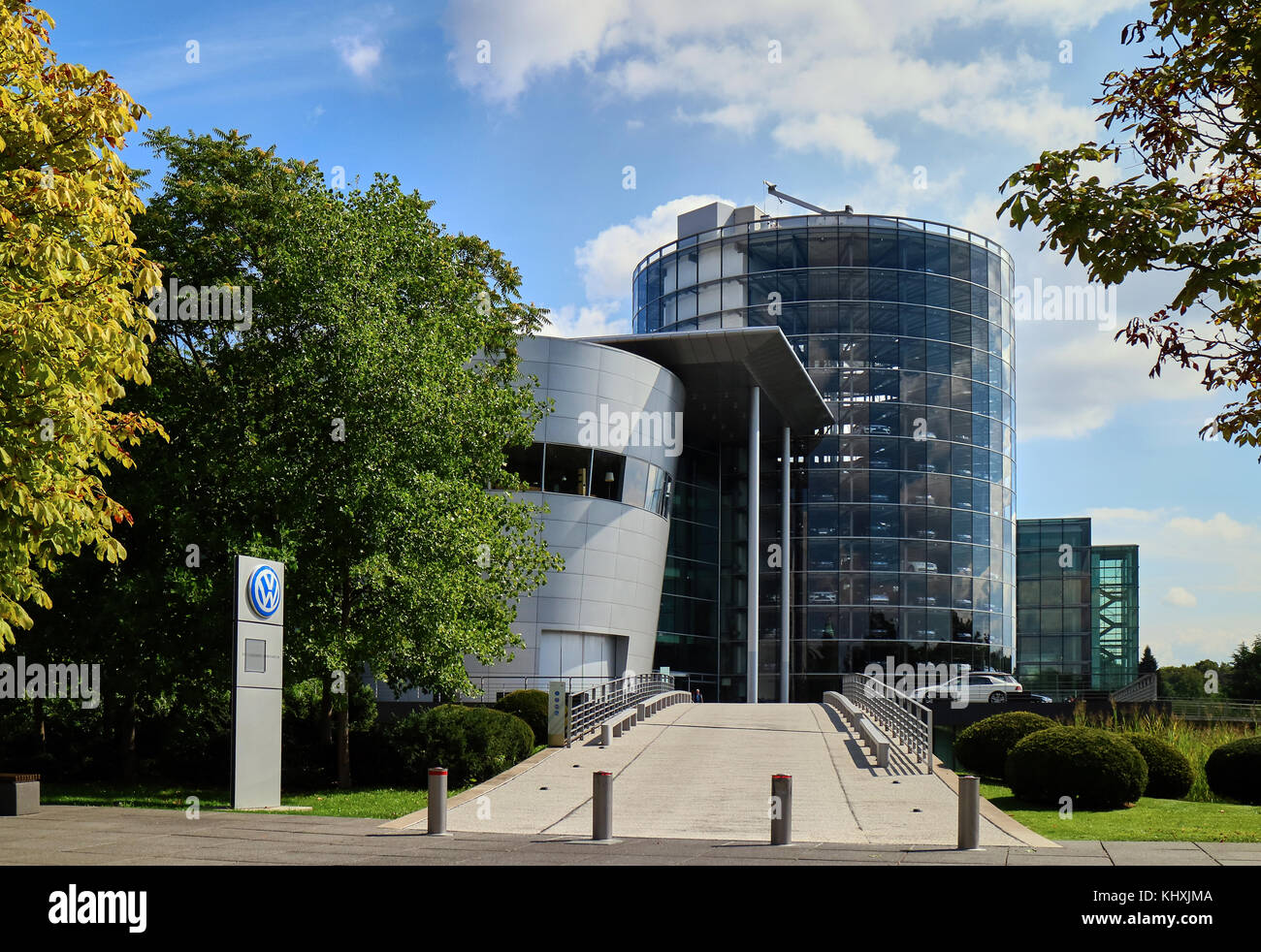 Europe, Saxony,   the Transparent Factory, Transparent Factory is the English name of an automobile production plant - Stock Image