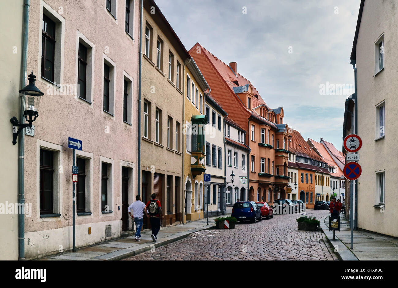 Europe, Germany, Saxony, Freiberg, city; Freiberg was for the Middle Ages most big city of Saxony. She is at the - Stock Image