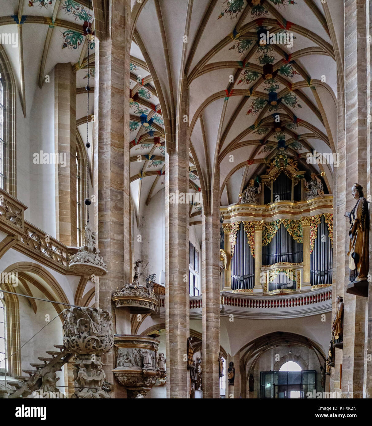 Europe, Germany, Saxony, Freiberg, the old town, the cathedral St-Mary of style Flamboyant Gothic was set up between - Stock Image