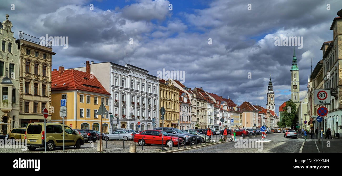 Europe, Germany, Saxony, Görlitz, The old town, The Ober Markt square Stock Photo