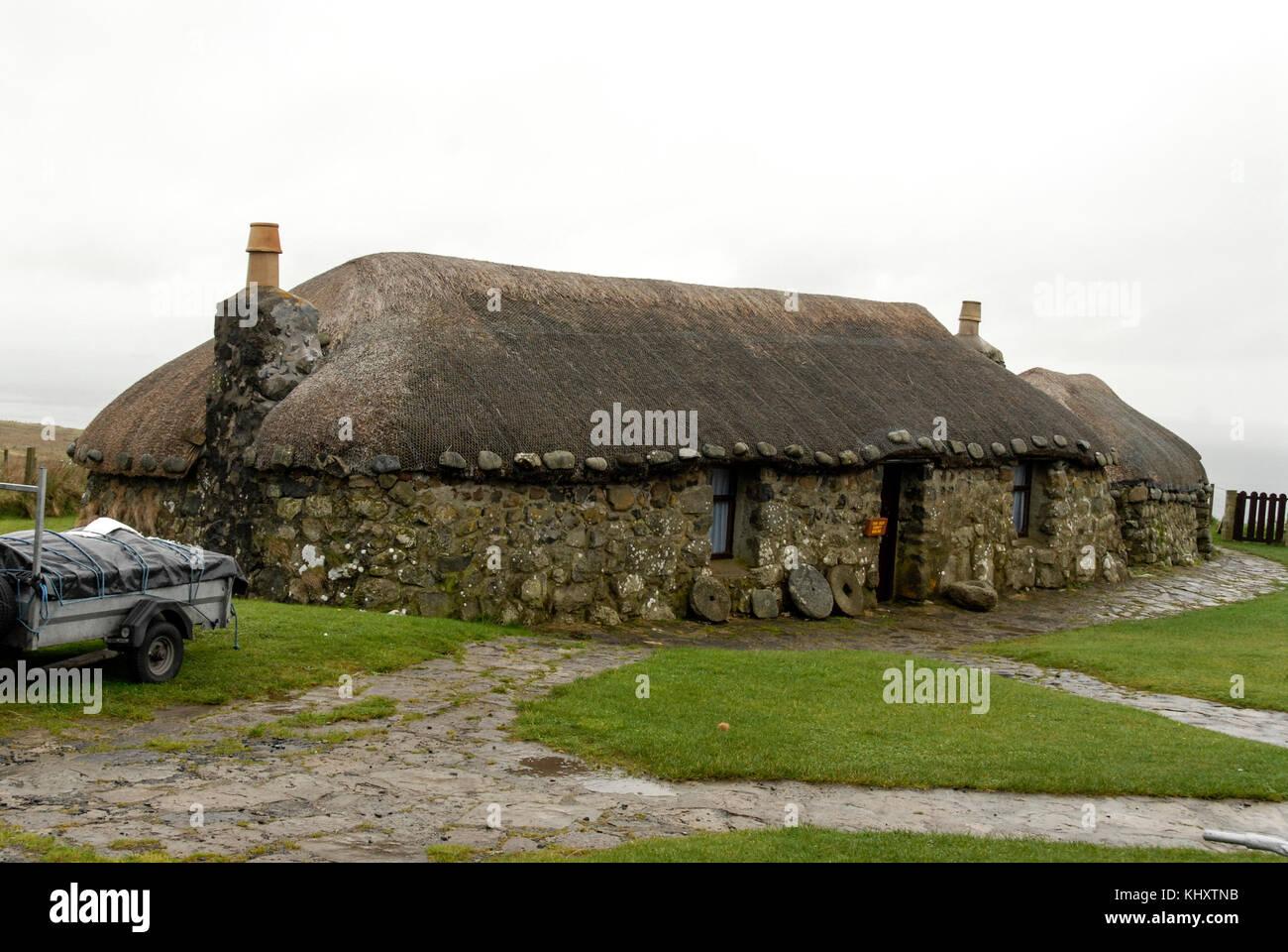 The Isle of Skye's croft museum at Kilmir near Portree on the Isle of Skye, in Scotland, Britain. - Stock Image
