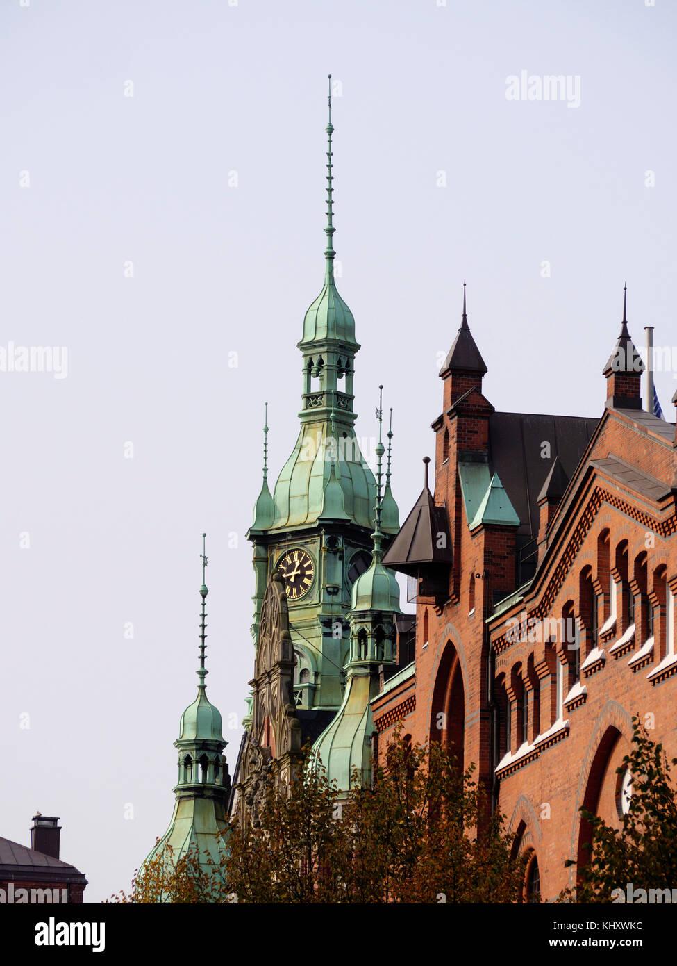warehouses in Speicherstadt, Hamburg, Germany, Europe, UNESCO world heritage Stock Photo