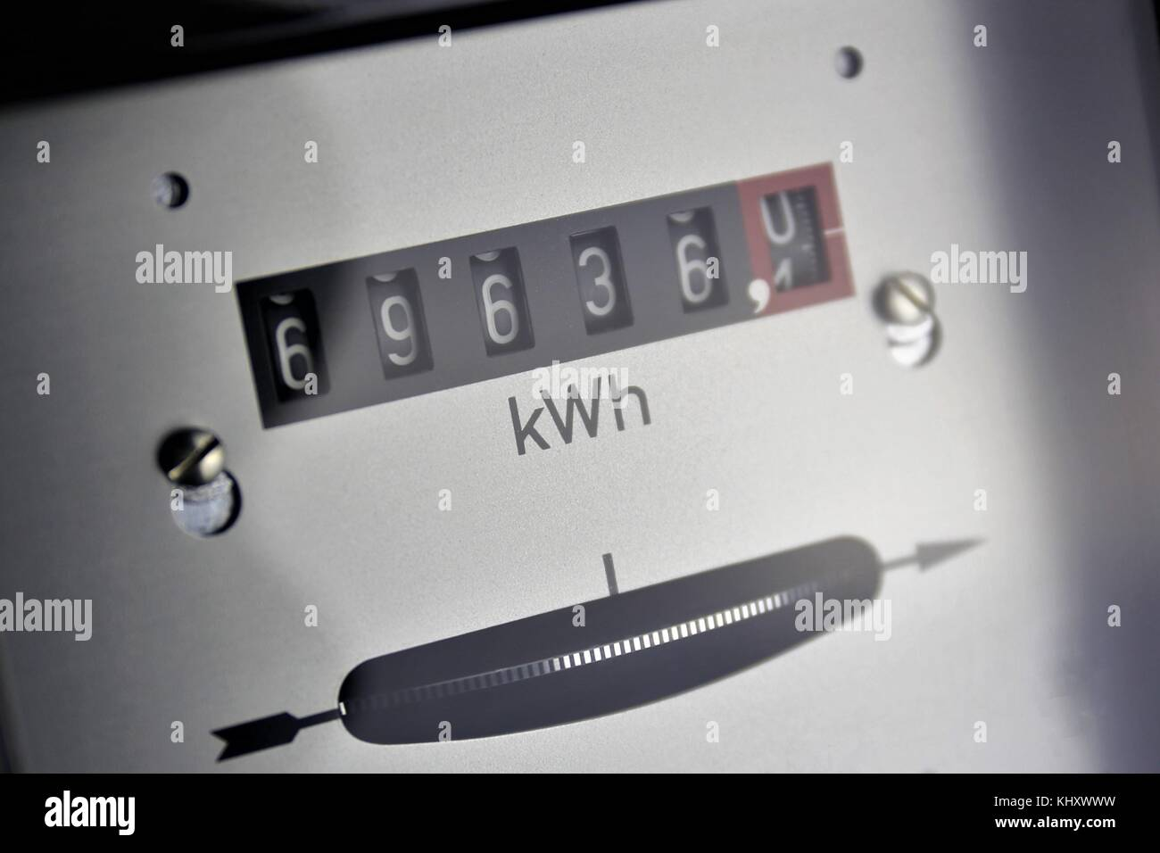An Image of a electricity Counter - meter - Stock Image