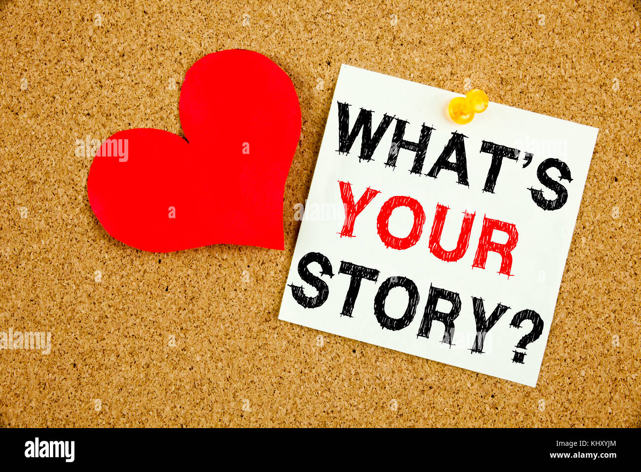 Conceptual hand writing text caption inspiration showing Question What Is Your Story concept for Share Storytelling - Stock Image