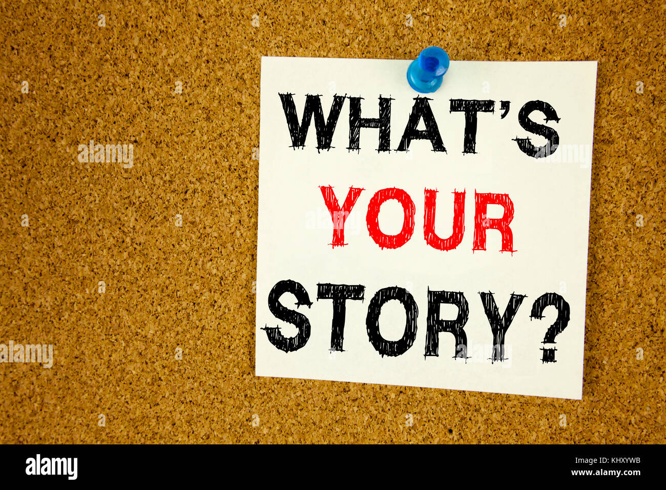Conceptual hand writing text caption inspiration showing Question What Is Your Story. Business concept for Share - Stock Image