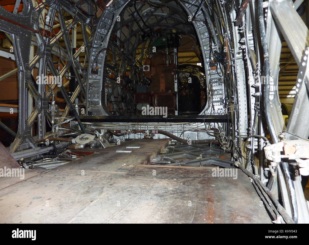Airframe of Wellington bomber,Cosford RAF museum,Shropshire - Stock Image