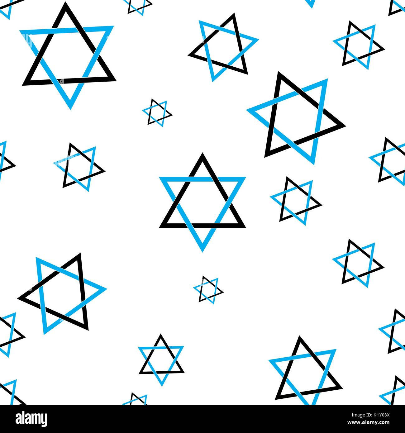 Star of David pattern seamless flat style for web vector illustration - Stock Vector