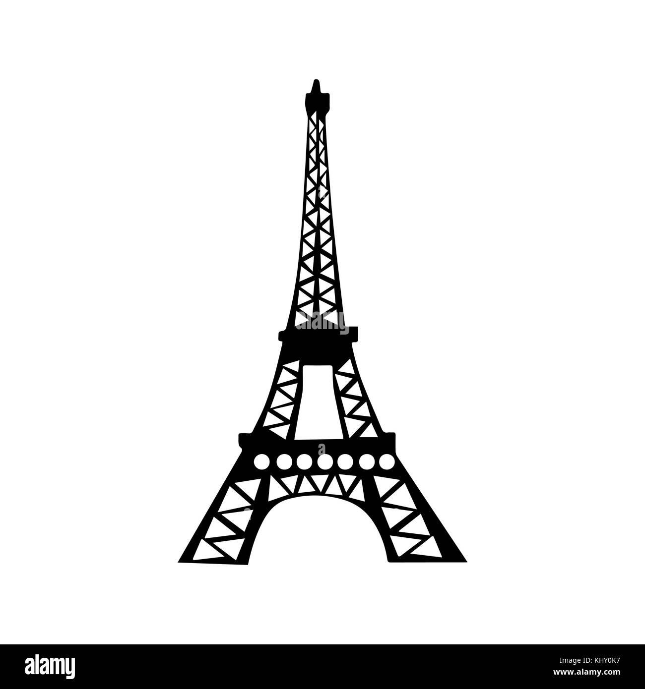 Eiffel Tower illustration - Stock Image