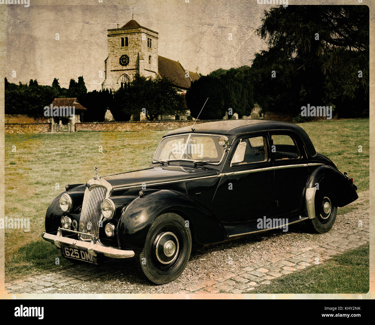 CLASSIC CARS: 1952 Riley RME 1.5 Saloon - Stock Image