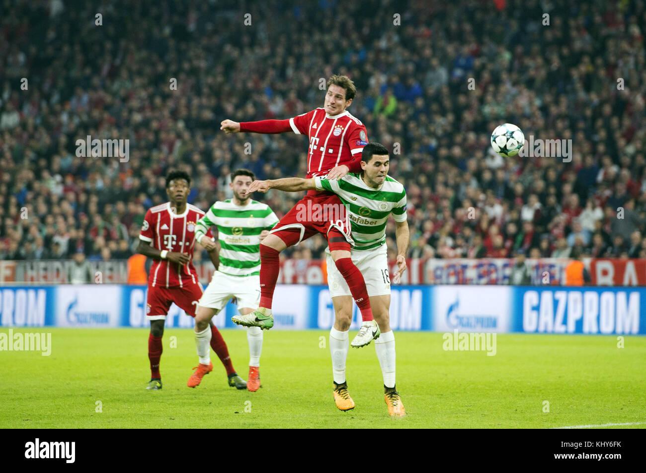 UEFA Champions League: Group B - Bayern Munich vs. Celtic (3-0)  Featuring: Sebastian Rudy, Tom ROGIC Where: Munich, - Stock Image