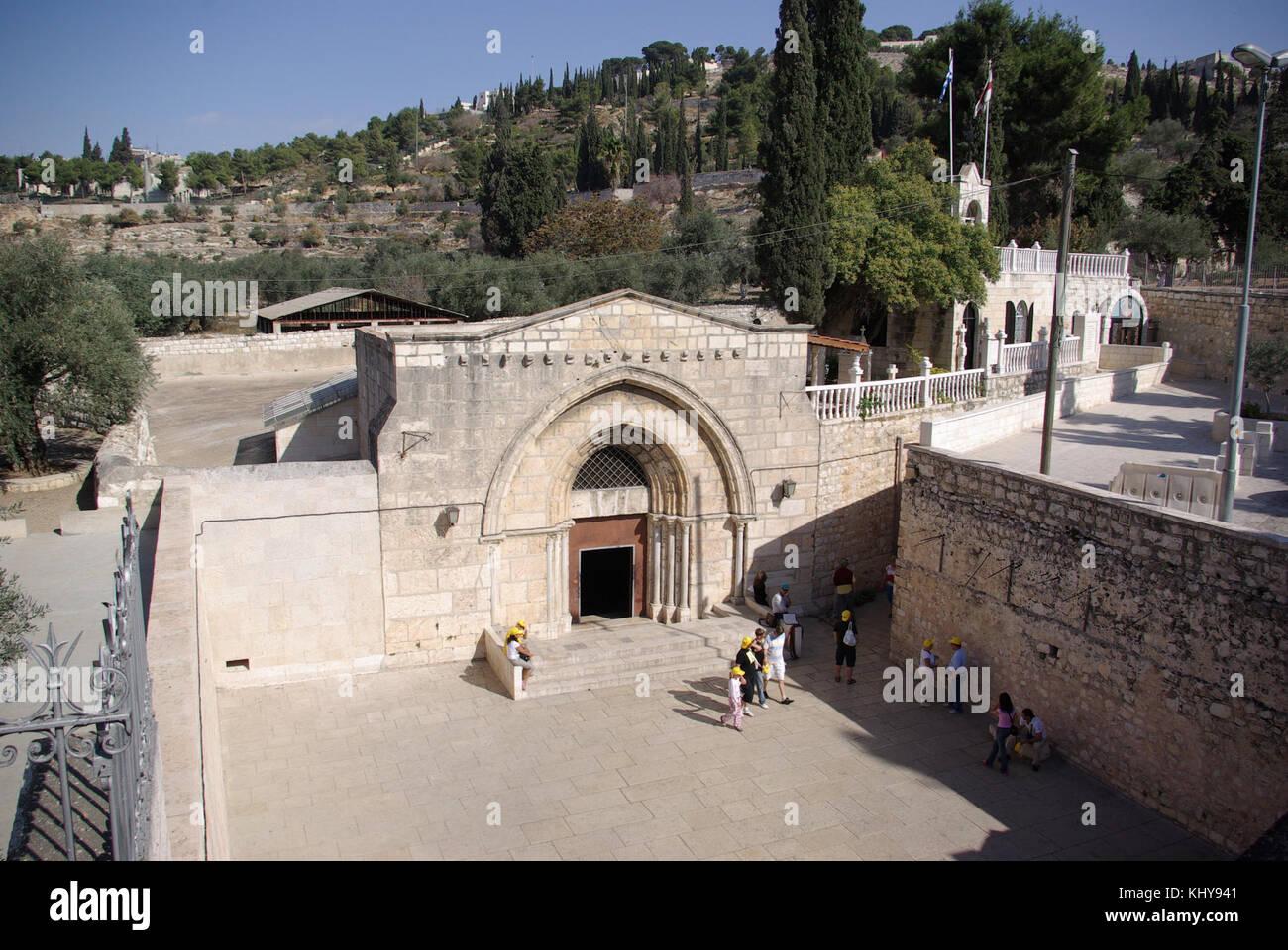 Jerusalem Mariengrab BW 1 - Stock Image