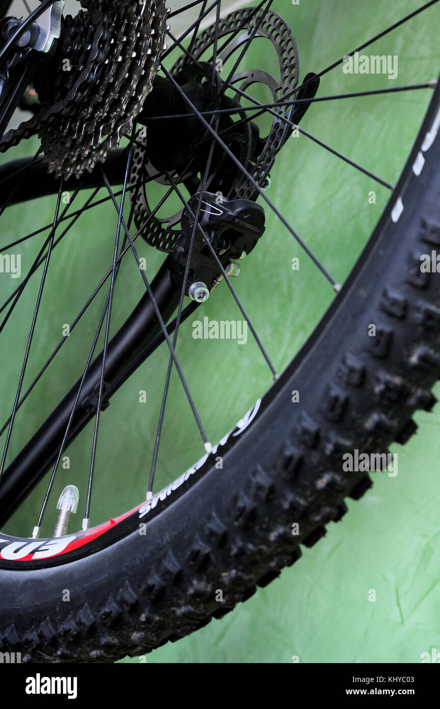 bicycle, parts, wheel, detail, tire, tread, sprockets, wheels, - Stock Image