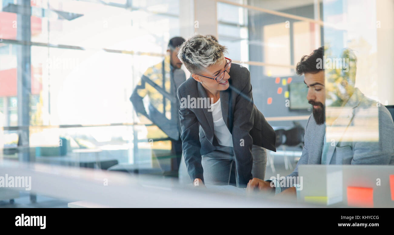 Business colleagues in conference room - Stock Image
