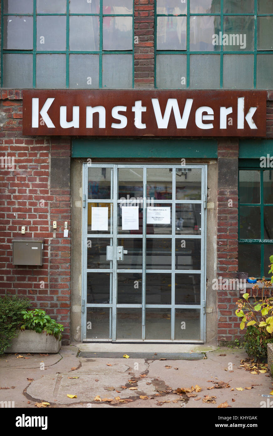 Entrance to Kunst-Werk Cologne - Stock Image