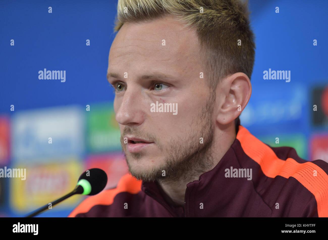 Torino, Italy. 21st Nov, 2017. Ivan Rakitic (FC Barcelona), press conference before the UEFA Champions League football - Stock Image