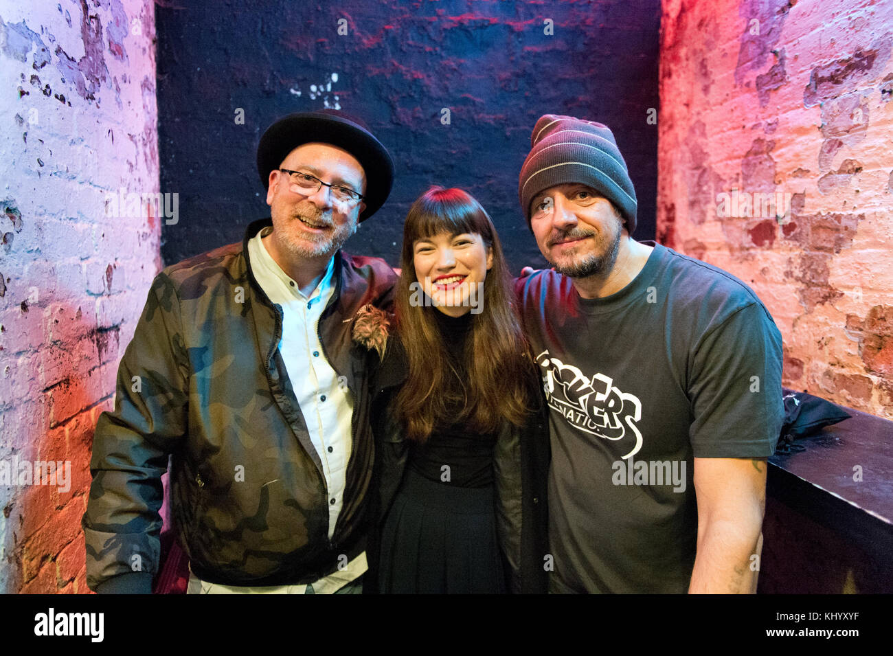 Manchester, UK. 21st November, 2017. Lost Horizons in concert at Soup Kitchen, Manchester, 21st November. The band - Stock Image