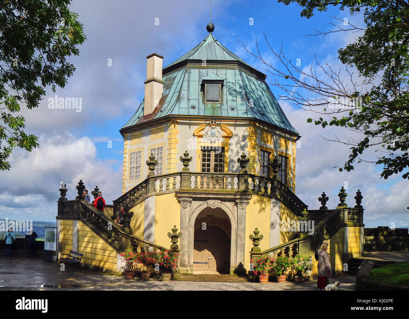 Europe, Germany, Saxony, , Königstein Fortress, the Baroque  detached house of the king Auguste II the Strong Stock Photo