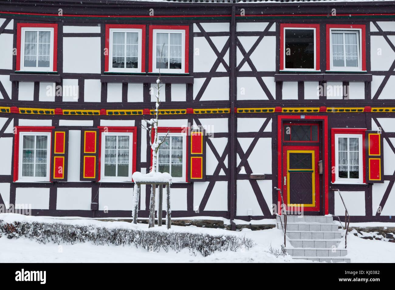 Fachwerkhaus in Güntersberge Harz Stock Photo
