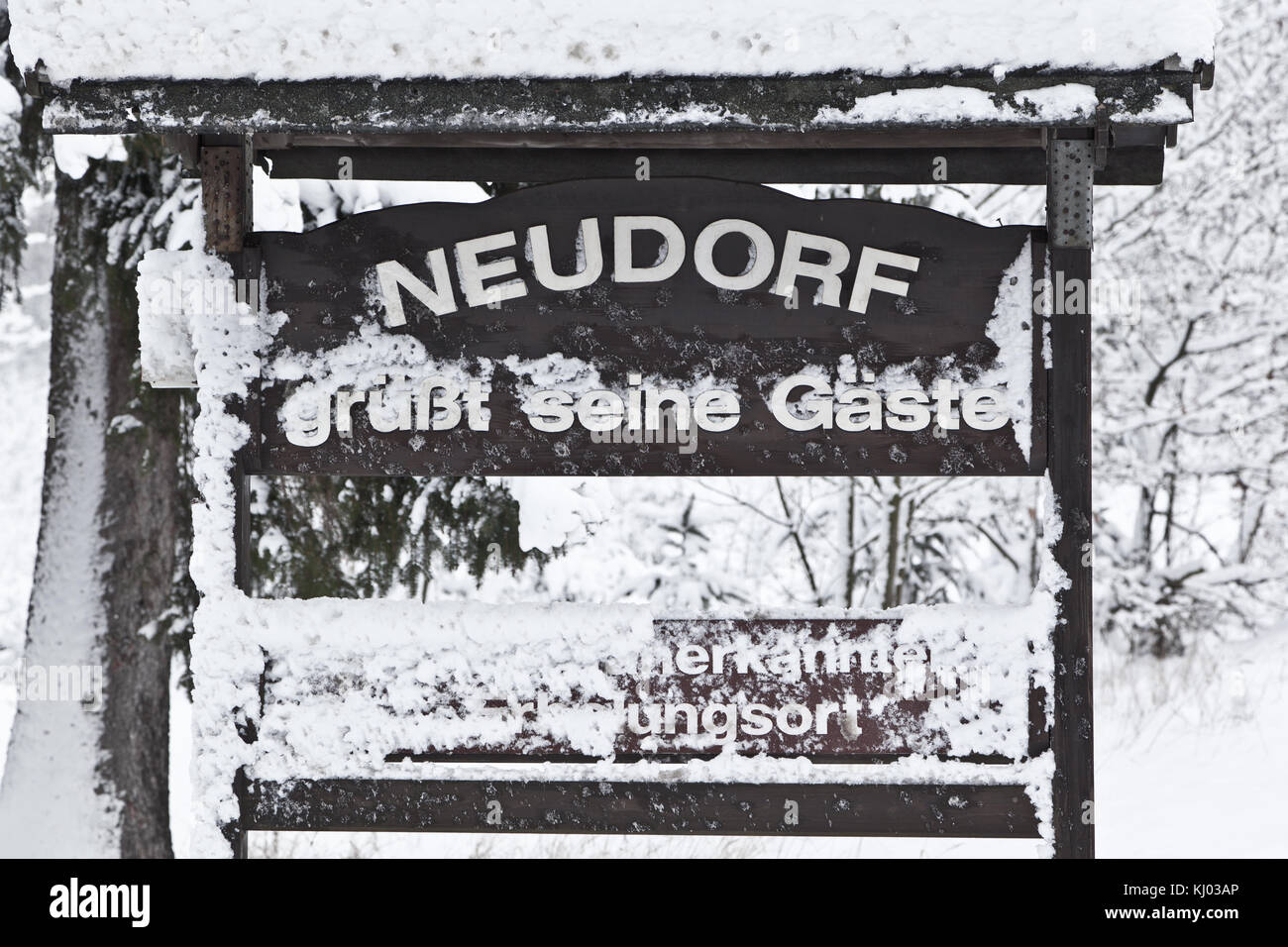 Neudorf im Harz - Stock Image