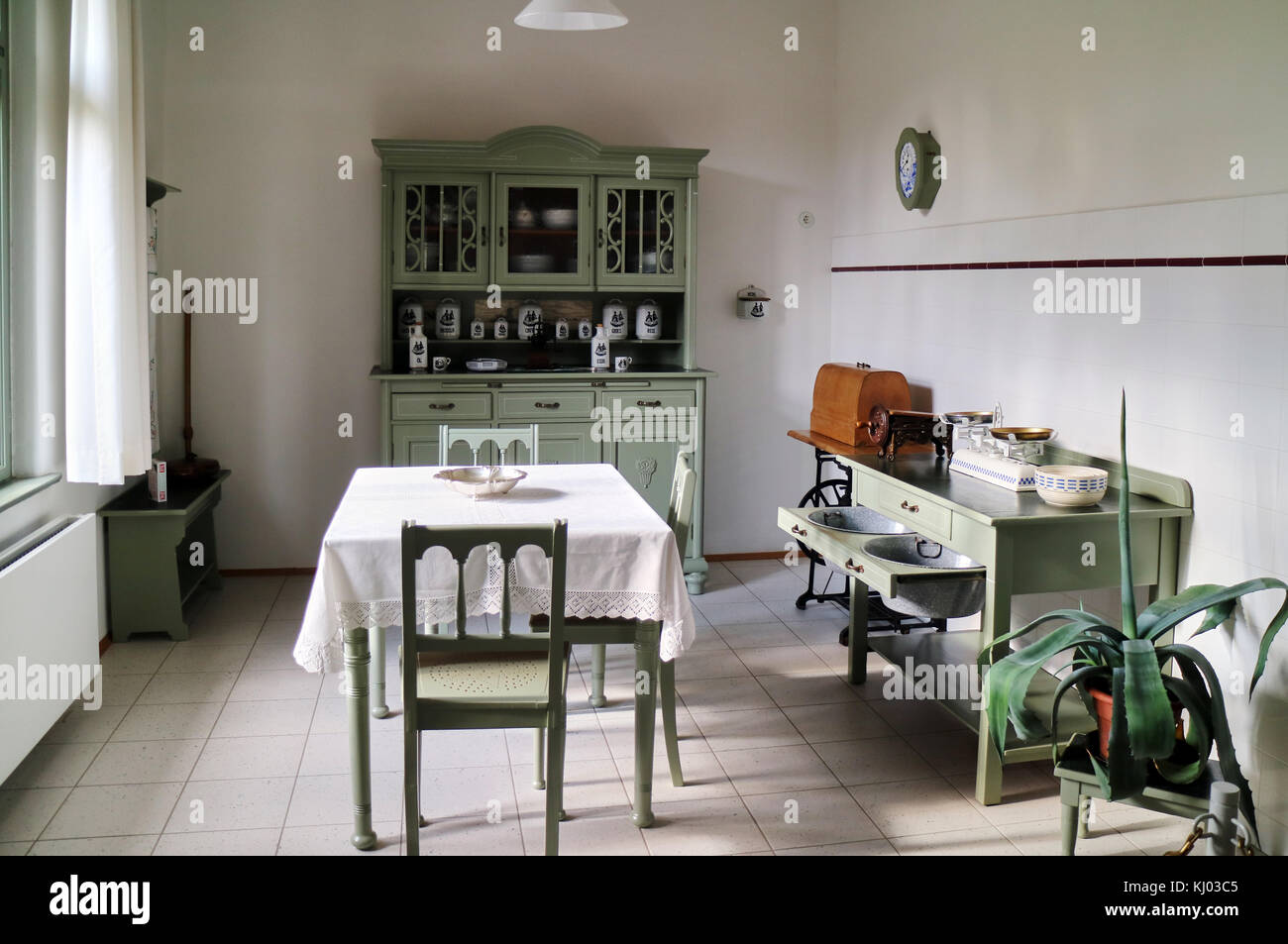 Europe, Germany, Saxony, Zwickau City, House Of August Horch; Domestic  Kitchen,