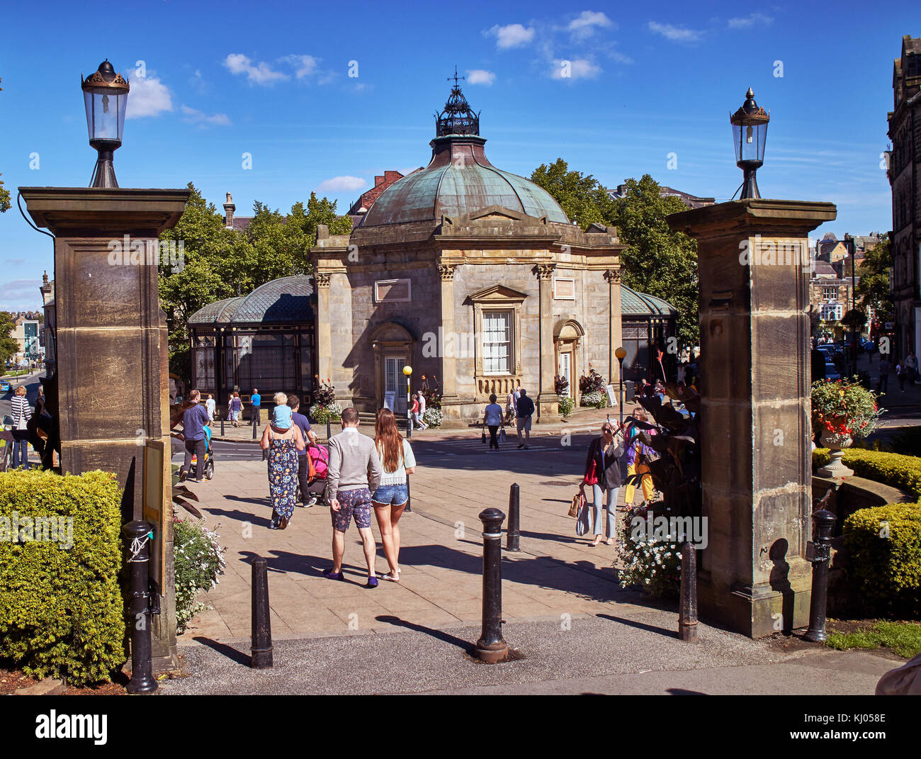 England, NorthYorkshire, Harrogate, spa town, Montpellier Quarter,Exterior of the Royal Pump Room Museum housed - Stock Image