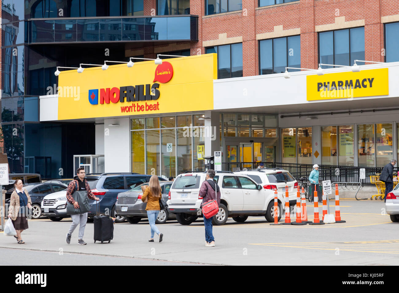 Toronto, Canada - Oct 13, 2017: No Frills grocery store in the city of Toronto. Province of Ontario, Canada Stock Photo