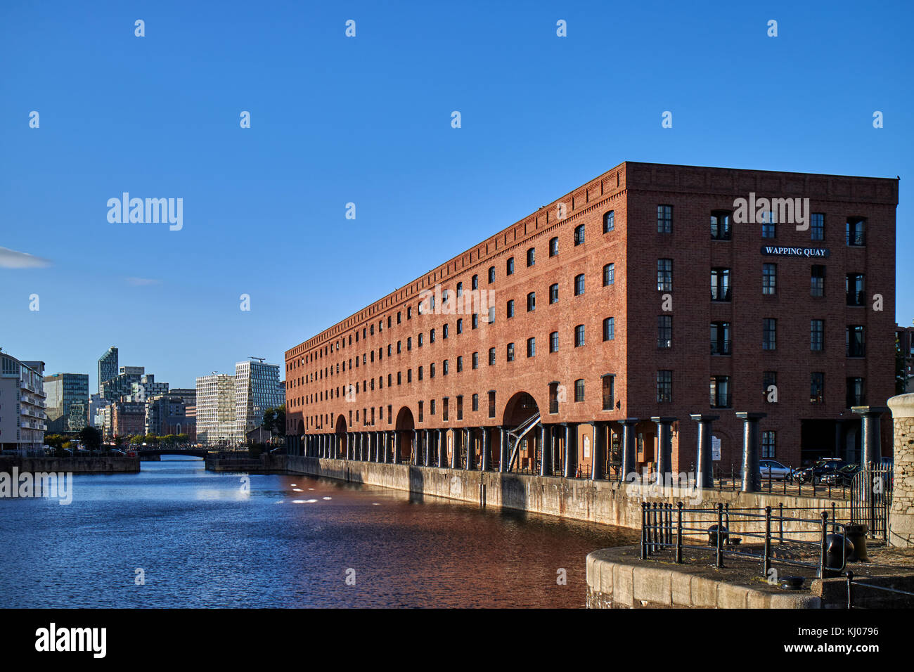 England, Merseyside, Liverpool city  A view of the famous Dock that