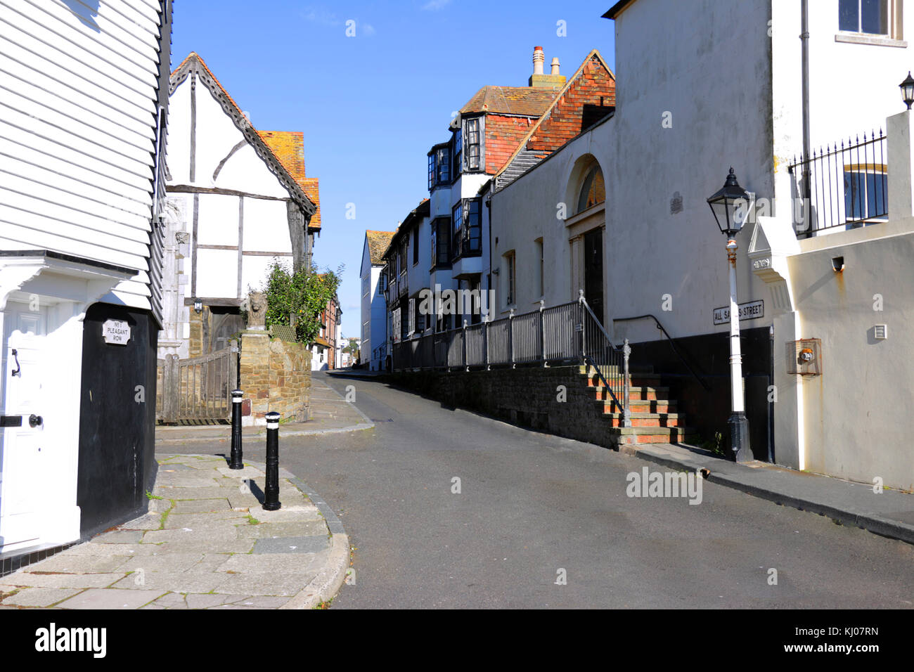 All Saints Street in the Old Town of Hastings - Stock Image