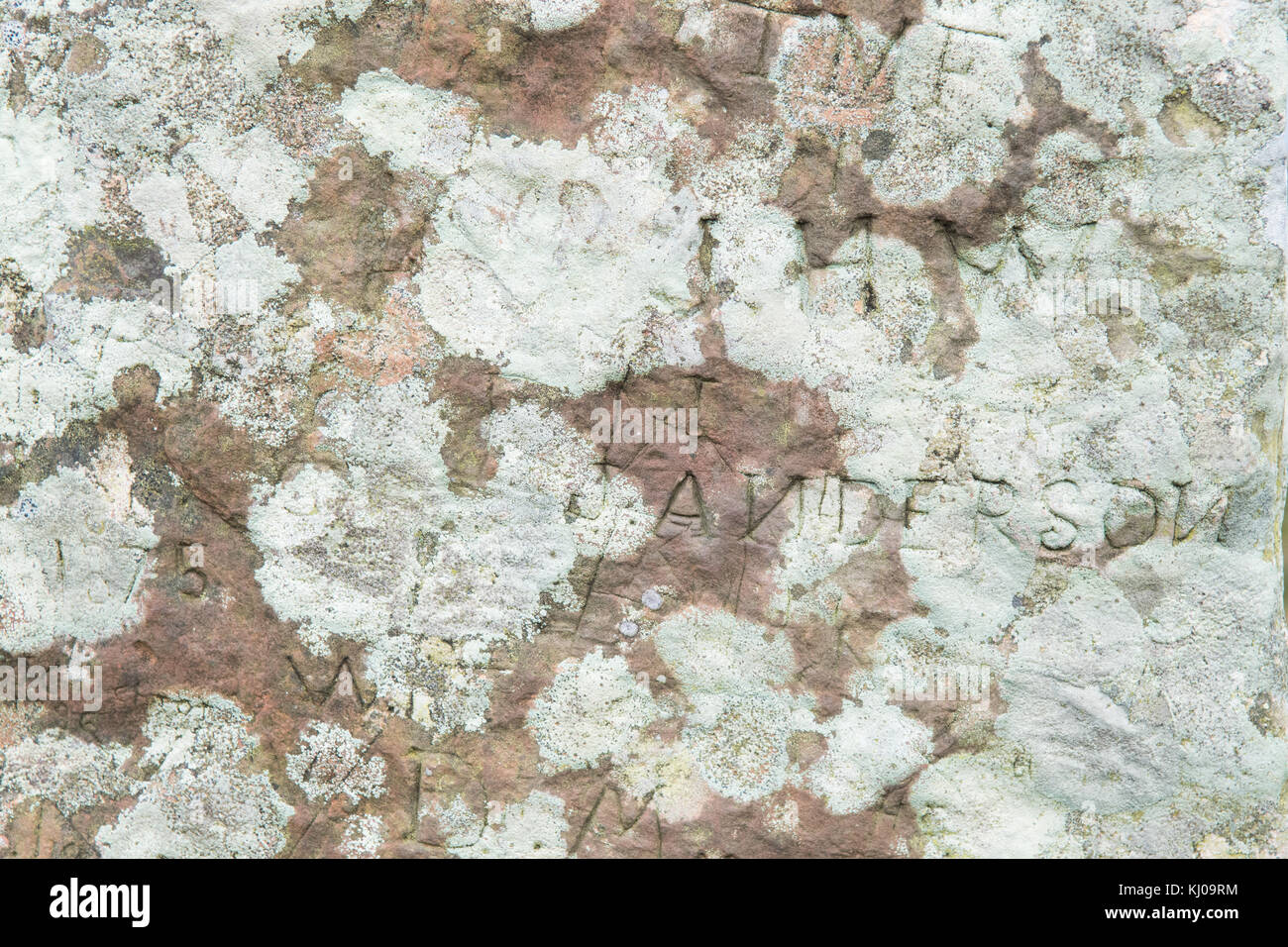Graffiti on stone at Ring of Brodgar, Orkney, Scotland, UK - Stock Image