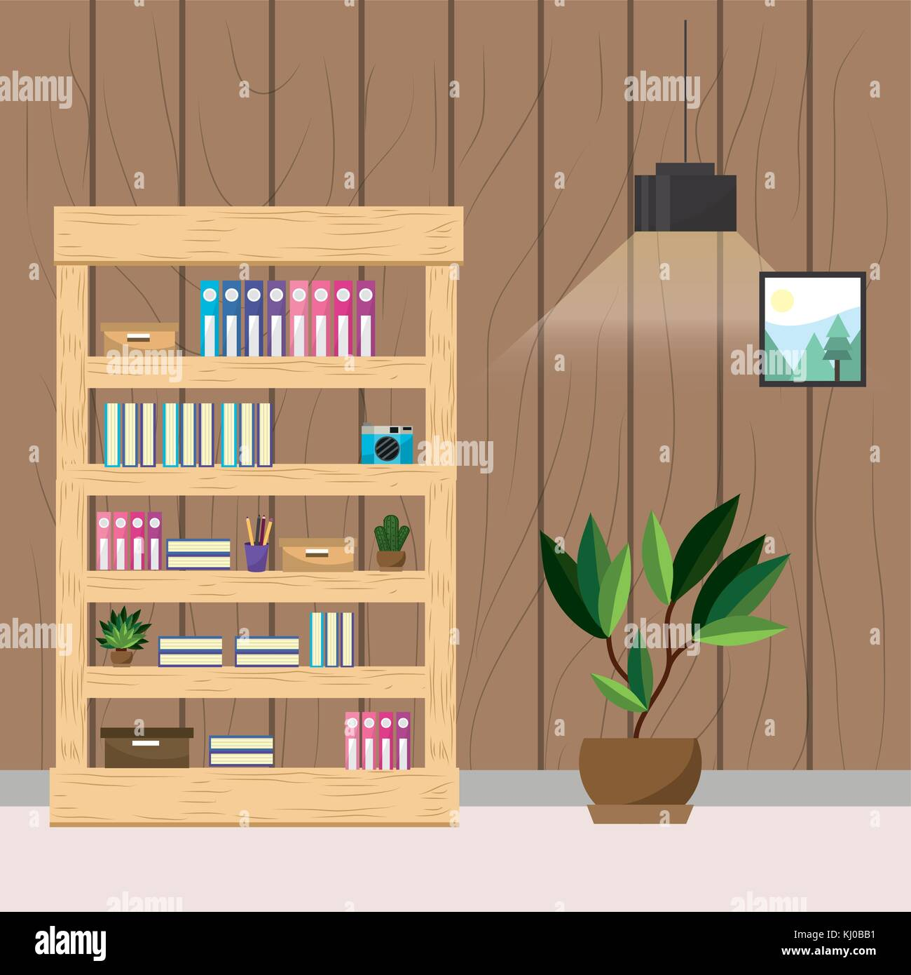 Workplace and office design Stock Vector