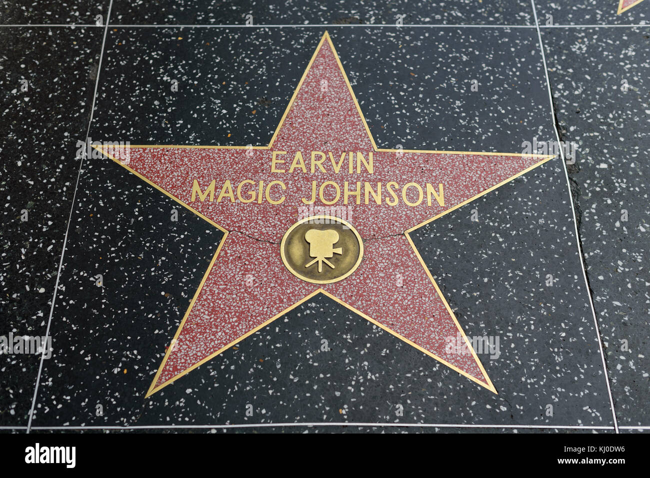HOLLYWOOD, CA - DECEMBER 06: Erwin Magic Johnson star on the Hollywood Walk of Fame in Hollywood, California on - Stock Image