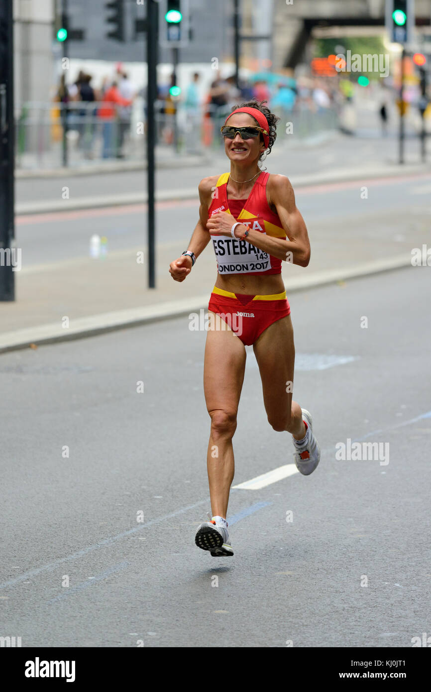 Marta Esteban, Spain, 2017 IAAF world championship women's marathon, London, United Kingdom - Stock Image