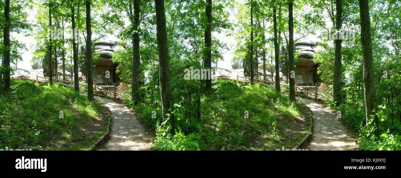 Garden of the gods southern Illinois panorama - Stock Image
