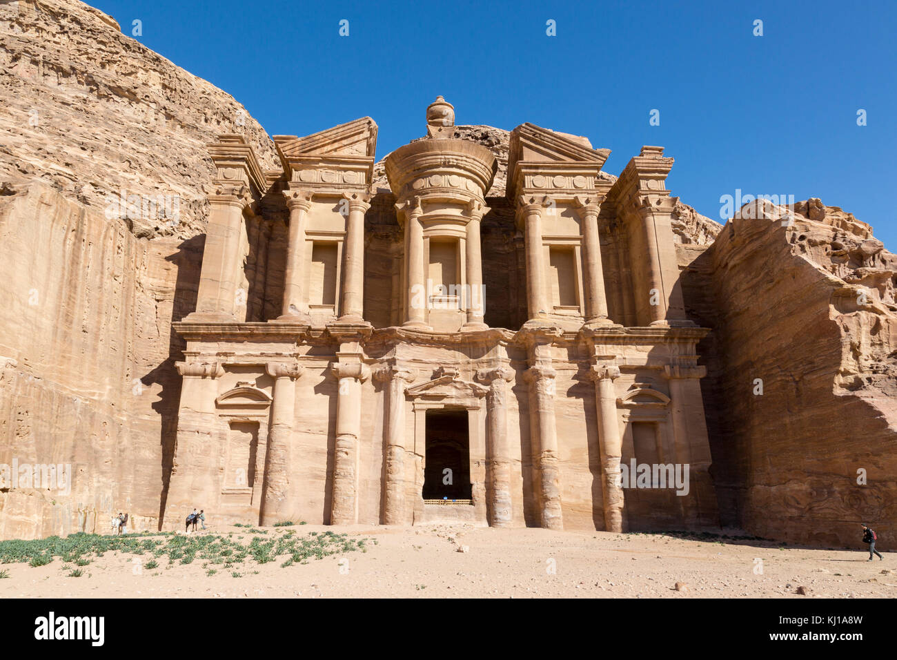 The Monastery Al Deir in Petra, Jordan Stock Photo