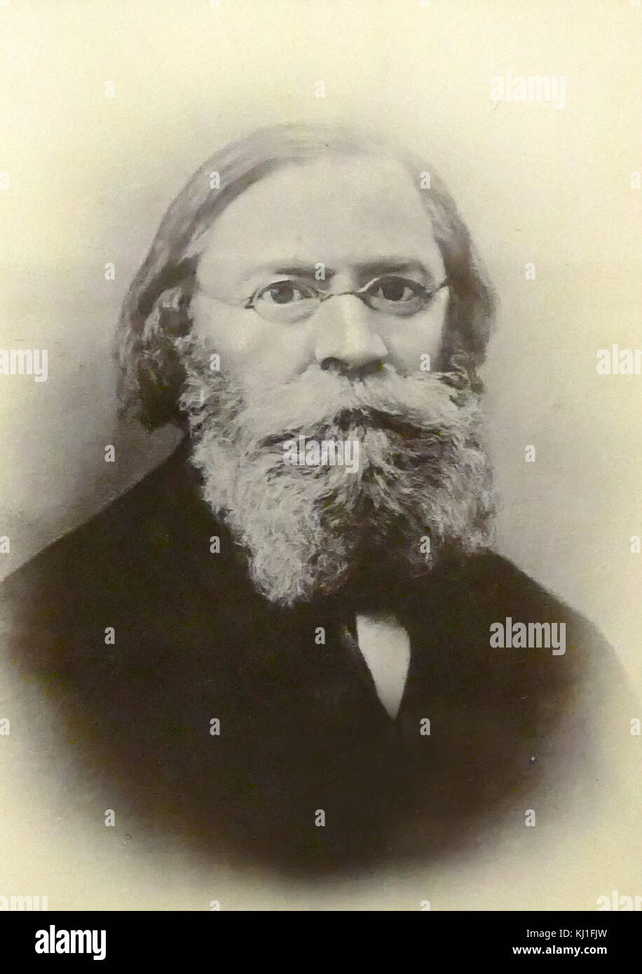 Lavrov Petrovich (1823 -1900) sociologist, philosopher, writer, revolutionary. One of the ideologists of populism. - Stock Image