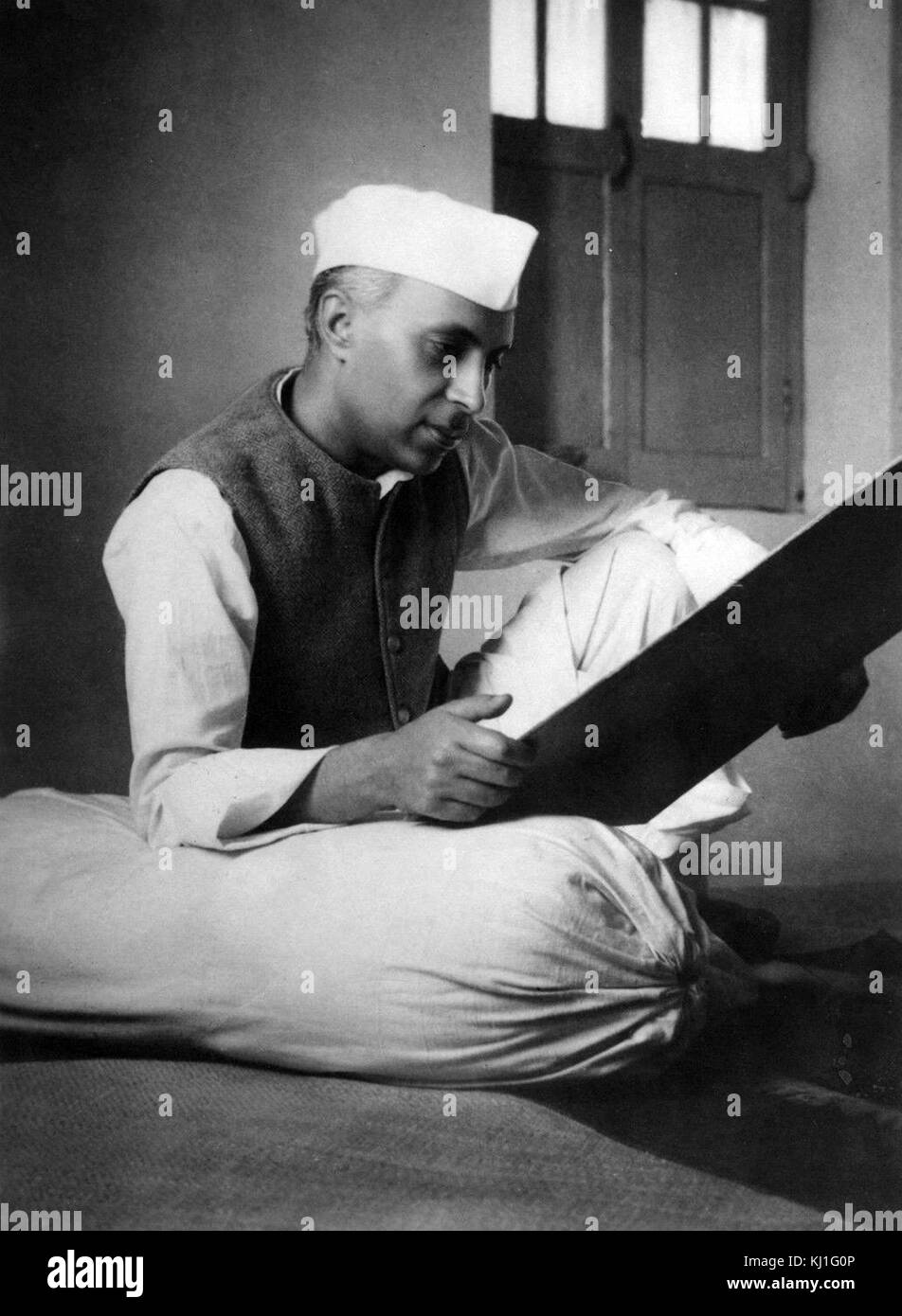 Jawaharlal Nehru (1889 -1964) was a leader of Indian National Congress during the Indian independence movement. - Stock Image