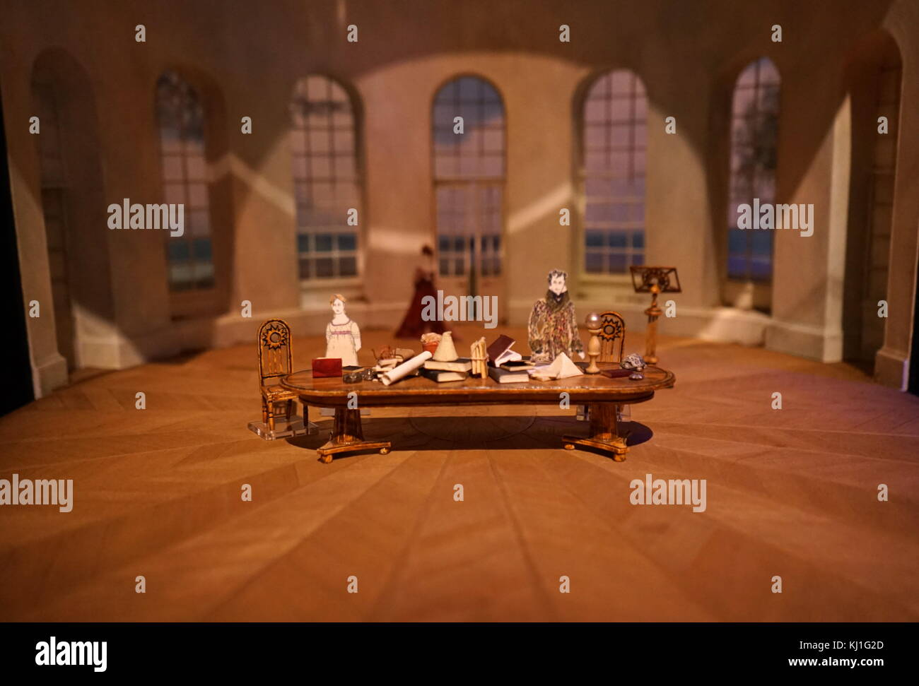 set model by Mark Thompson for the 1994 Lincoln Centre production of Tom Stoppard's Olivier Award-winning play Arcadia - Stock Image