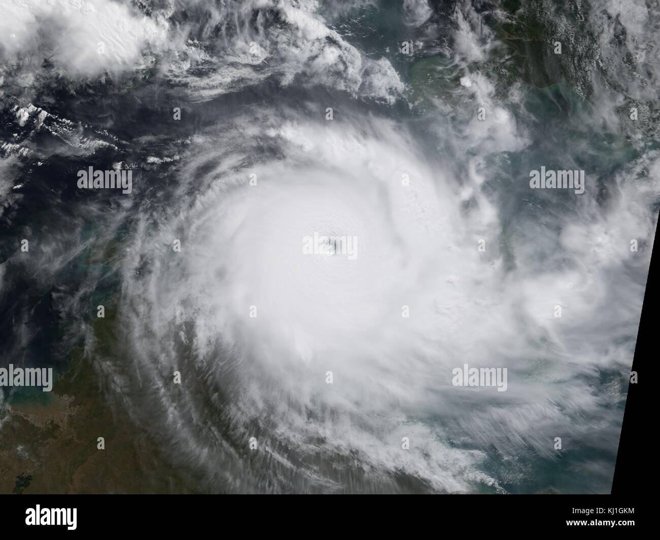 Tropical Storm Monica (Duration September 28 – October 2, 2006), reached a peak intensity of 50 mph (85 km/h) (1 - Stock Image