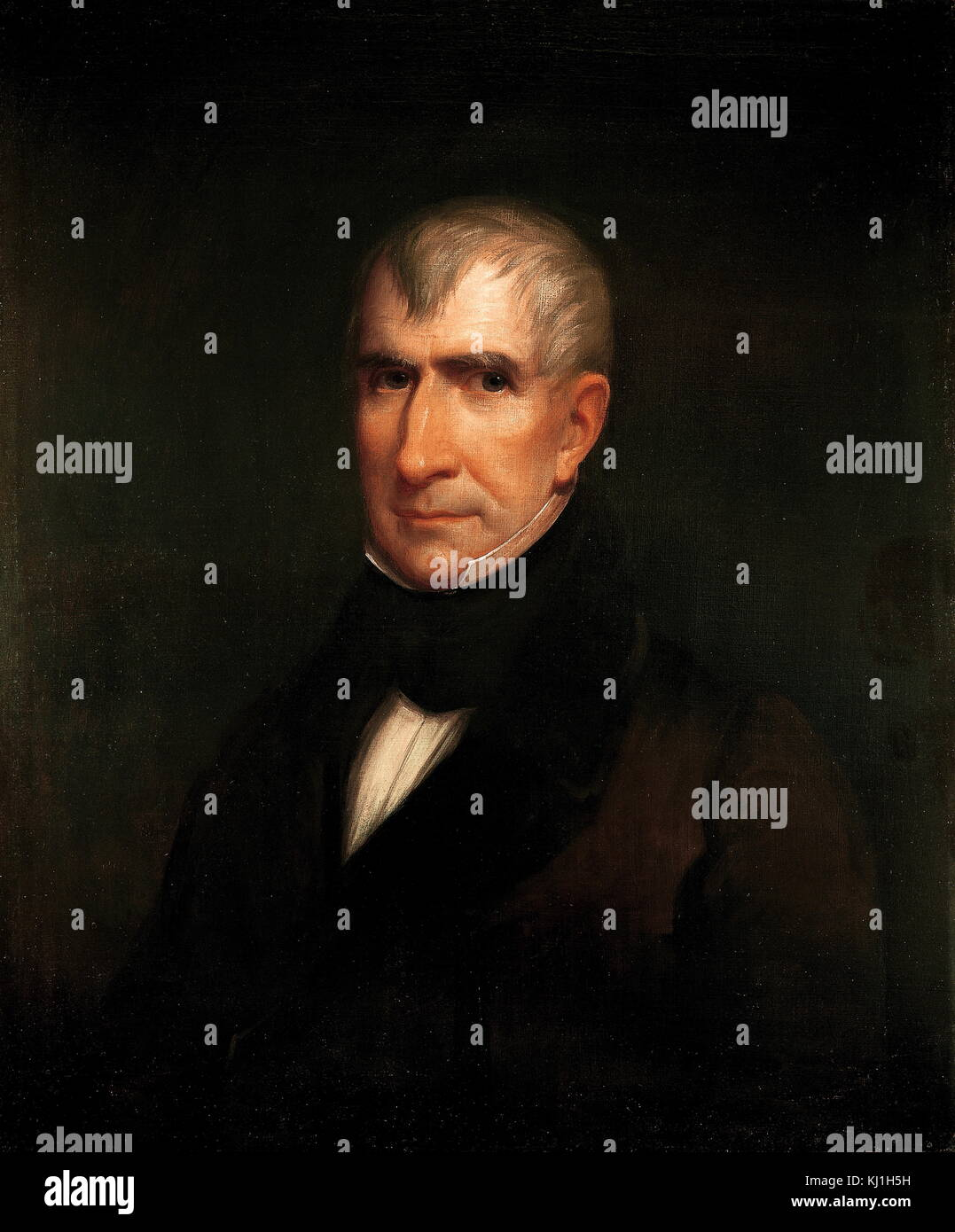 William Henry Harrison Sr. (1773 – April 4, 1841) President of the United States (1841), an American military officer, - Stock Image