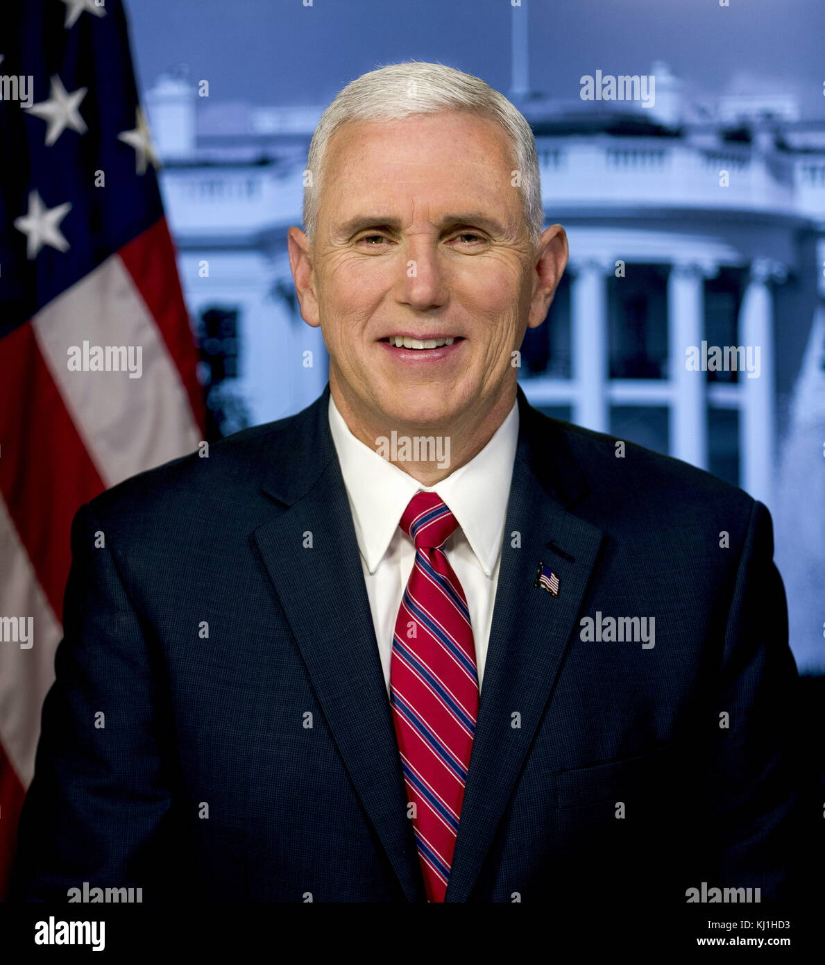Official portrait of Vice President Mike Pence. Vice President of the United States from 2017, under President Donald Trump Stock Photo