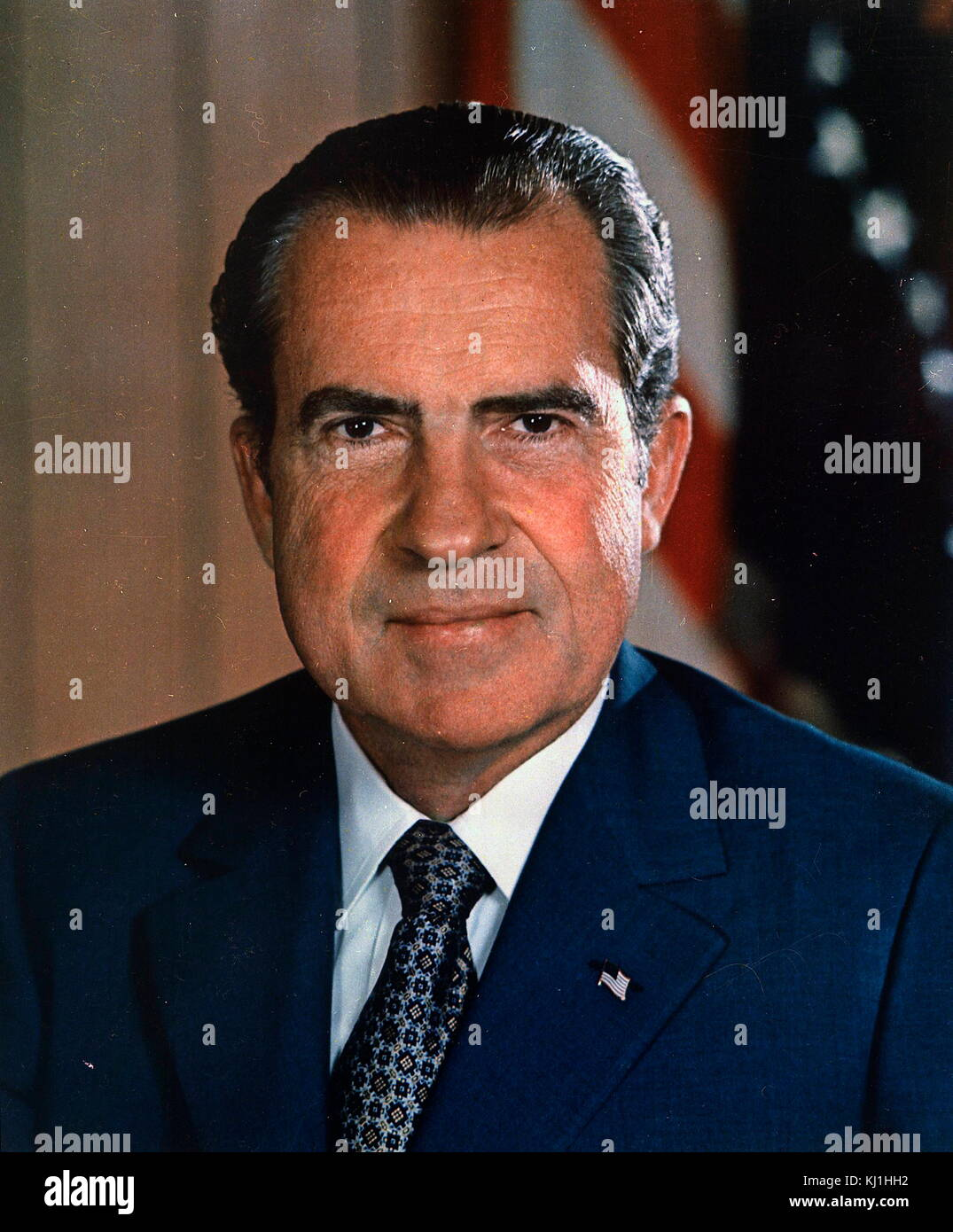 Richard Milhous Nixon (1913 – 1994) American politician who served as the 37th President of the United States from - Stock Image