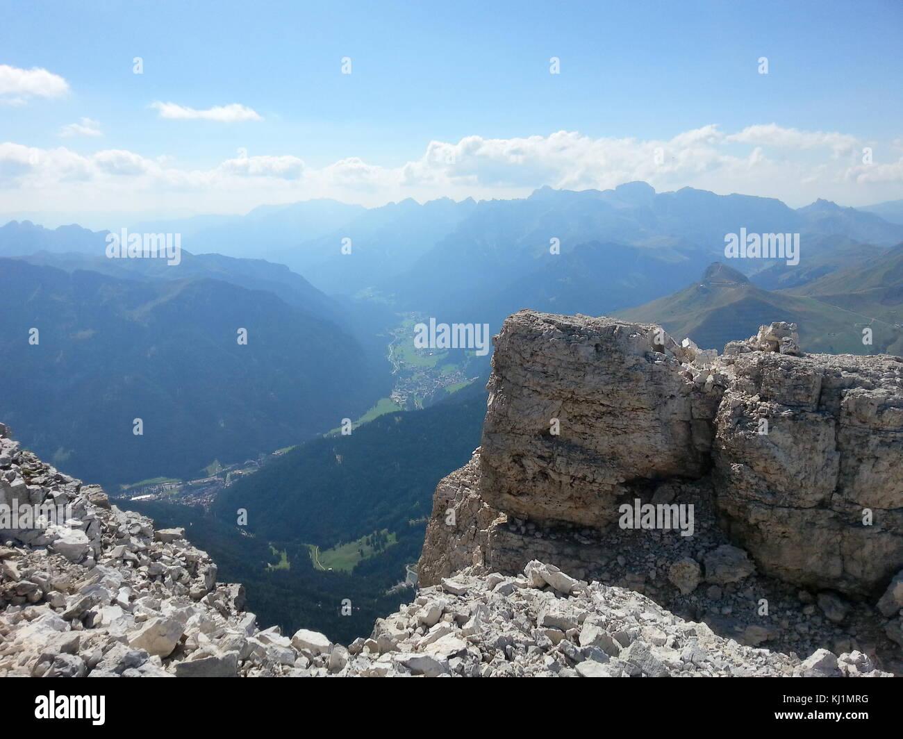 Passo Pordoi, Italian Dolomites in summer - Stock Image