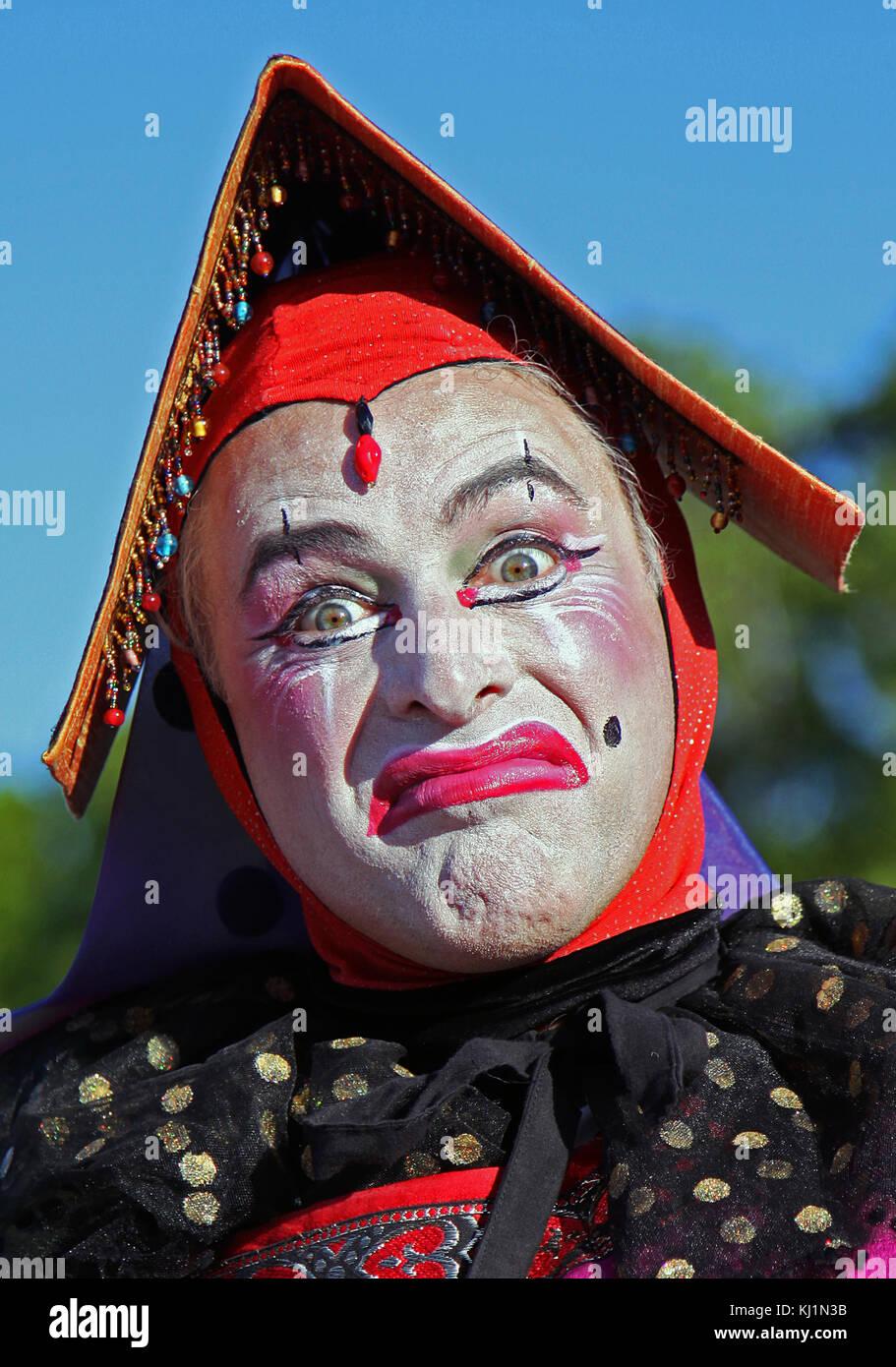 lA charachter at a Renaissance, Festival - Stock Image