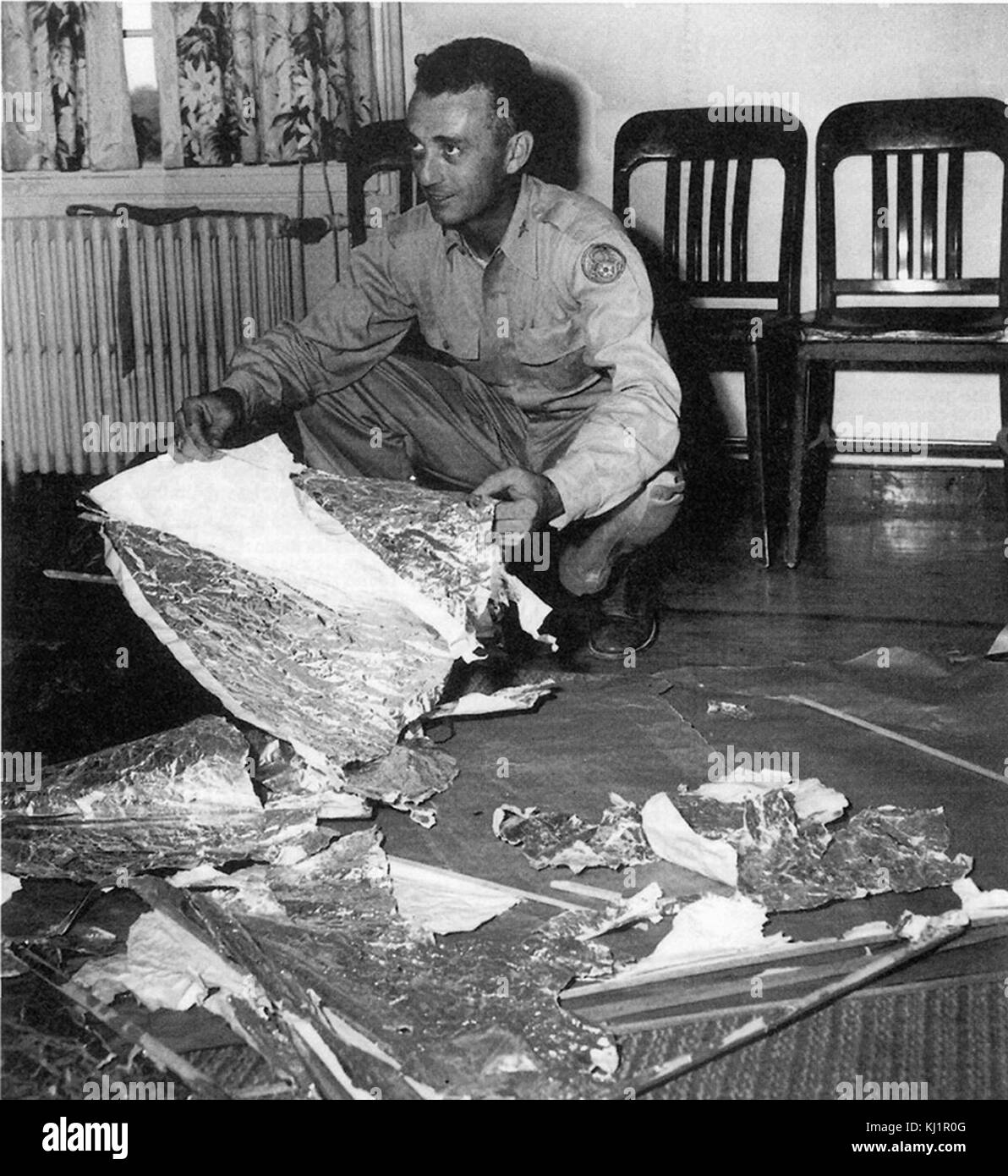 Jesse Marcel, head intelligence officer, who initially investigated and recovered some of the debris from the Roswell - Stock Image