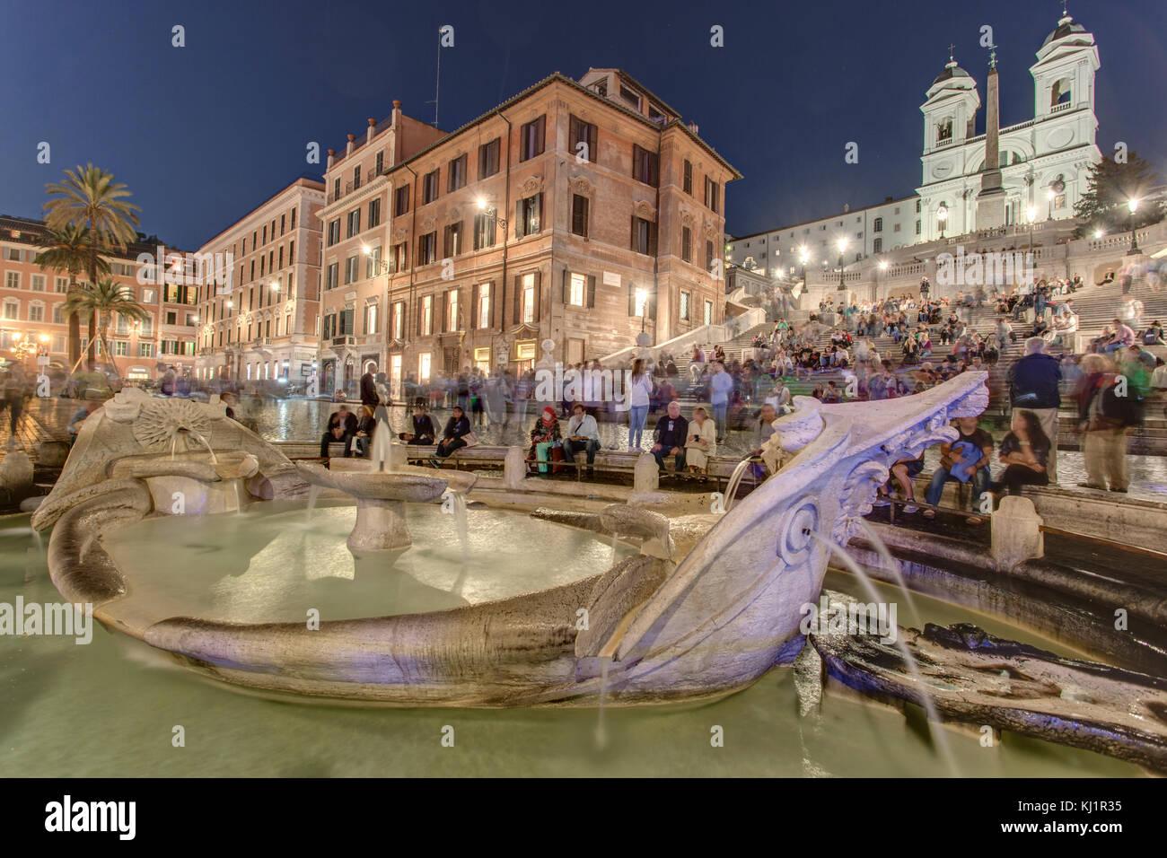 Spanish Steps, Rome - Piazza di Spagna Roma - Stock Image